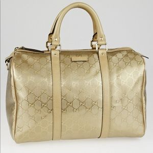Gucci champagne medium Boston GG bag